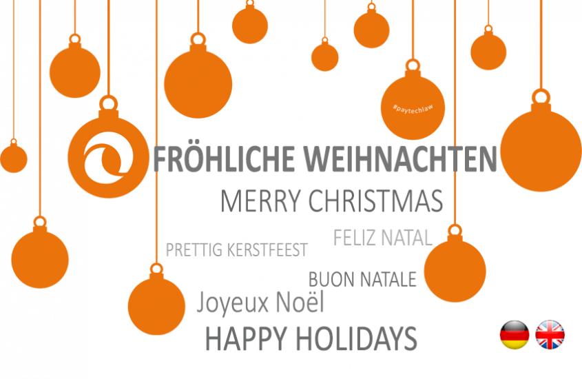 Fröhliche Weihnachten | Merry Christmas | PayTechLaw